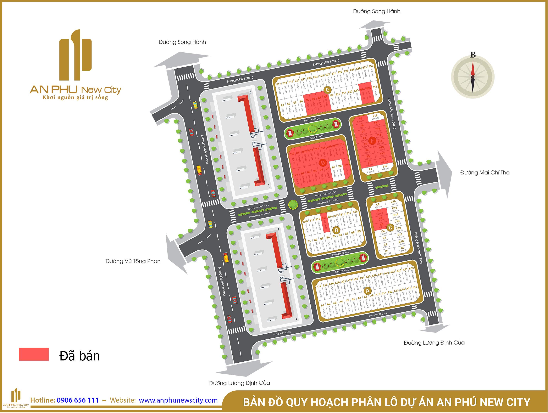 Bản Đồ Phân Lô Dự Án An Phú New City Quận 2
